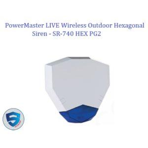 PowerMaster LIVE Wireless Outdoor Hexagonal Siren - SR-740 HEX PG2