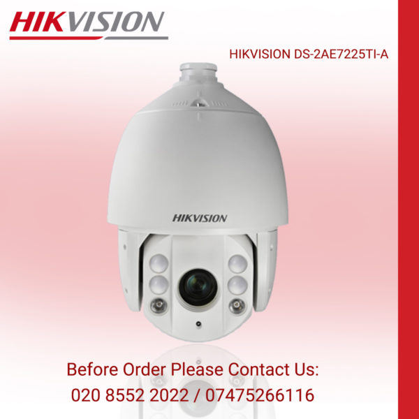 HIKVISION 2MP IR PTZ SECURITY CAMERA WITH 25X ZOOM